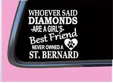 "Saint Bernard Diamonds Tp 449 vinyl 6"" Decal Sticker dog breed tshirt"