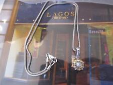Steven Lagos Caviar Arcadian Pearl 18K y/gGold~Sterling Silver Necklace