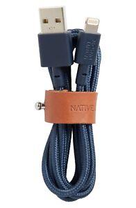 NIB Native Union Belt Cable Ultra Strength - Marine Blue Color - 4 Ft
