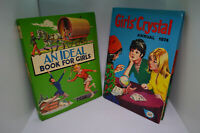 2 Vintage Books for Girls: An Ideal Book for Girls '72, Girls Crystal Annual '74