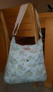 Cath Kidston Castle Patterned Reversible Cotton Crossbody Shoulder Bag