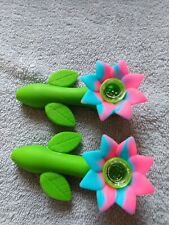 2 TOBACCO SMOKING SILICONEHAND PIPES