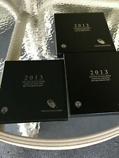 2013 S LIMITED EDITION SILVER PROOF 8 COIN SET MINT, SAN FRANCISCO W/COA & BOX *