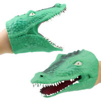 Soft Vinyl Tpr Crocodile Hand Puppet Animal Head Hand Puppets Kids Toys Gift CN