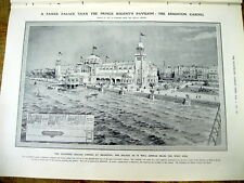 1908 illustrated newspaper w artwork showing proposed CASINO in BRIGHTON England