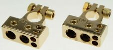 Batterieklemmen-Set vergoldet für 1x35mm² / 1x25mm² / 2x10mm² Polklemmen