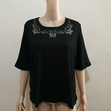 C520 - NB Black Embroidered Blouse