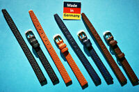 Uhrband Kalbsleder 9 mm Anstoss braun, blau und schwarz Made in Germany
