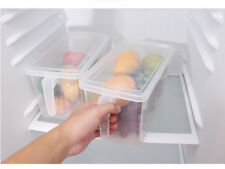 Kitchen Food Fruit Storage Containers Refrigerator Case Plastic Box With Handle