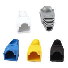 100 Pcs Soft Plastic Ethernet RJ45 Cable Connector Boots Plug Cover