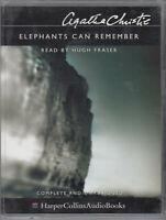 Agatha Christie Elephants Can Remember 4 Cassette Audio Book Unabridged Poirot
