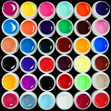 New 36 Pots Pure Colors UV Gel Nail Art Tips Shiny Cover Extension Manicure Set