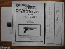Crosman 130 137 Pistol Two O-Ring Seal Kits + Exploded View + Parts List + Guide