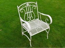 Stunning Victorian Style White 'SARAH' Arm Chair Home or Garden  3580