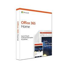 Microsoft Office 365 Home  1 Year Subscription For 6 Users / all devices