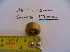 "Brass Radiator Air Bleeding Valve 1/2"" / 13mm *TO SUIT 19mm RADIATOR HOLE*"