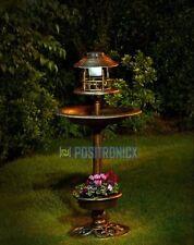 Bronce Energía Solar 3 en 1 luz de la Lámpara de Jardín Plantador de baño del pájaro adorno al aire libre