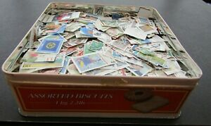 GERMANY - VAST COLLECTION OF COMMEMORATIVES IN OLD BISCUIT TIN - 15,000+