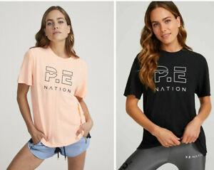 **Pe Nation** Womens Heads Up T-shirt Short Sleeve Workout Tee Shirt Tops XS-M