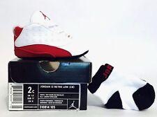 Brand New Nike Air Jordan 13 Retro Low (CB) Crib White Red XIII 310814-105 2c