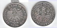 Deutsche Bank Hamburg 1976 wohl Ag (ohne Punze) ca. 16,69 g, ca. 32,1 mm (T620)