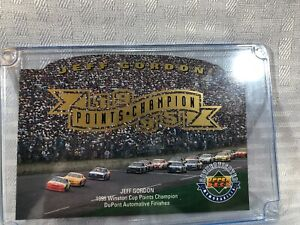 """Jeff Gordon 1995 Points Champion Large 3.5"""" x 5"""" card In Protective Case"""