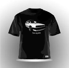 "EAKS® Herren T-Shirt ""GOLF 2 / I Love My MK 2"" schwarz Gti-Fahrer Car Auto Shirt"