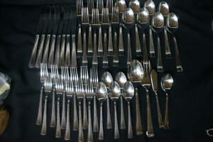 44 Pcs Cuisinart GEO Stainless Forks Knives Spoons Glossy 18/10