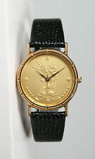 Unisex Bugs Bunny Gold-Tone Leather Golf Watch- New and Unworn!