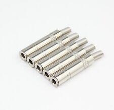 5 Pcs Metal 6.35mm 1/4 Mono Plug Female Socket Solder Adapter Terminal Cable UK