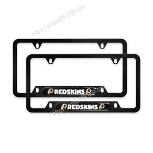 Washington Redskins 2PCS Chrome License Plate Frame Set Auto Truck Car Tag Cover