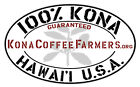 100 % Hawaiian  Kona Coffee Beans Medium Roasted Every Day Seven / 1 Pound Bags