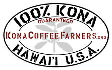 100 % Hawaiian / Kona Coffee Beans Fresh Roasted Daily 7 / 1 Pound Bags