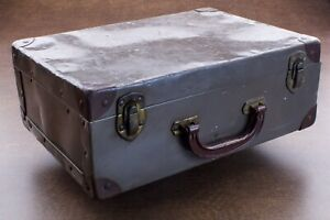 Antique Small Travel Trunk Metal Suitcase