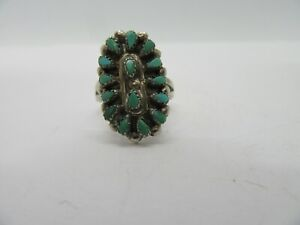 Sterling Silver Ring Turquoise Stone Size 6.75