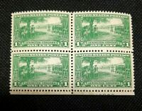 US Stamps Scott#617 Mint NH OG Block of 4 Lexington Concord
