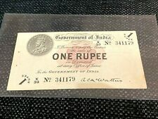 India - King George V, 1917, 1 Rupee, First Issue