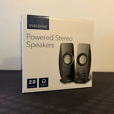 *Insignia NS-PCS219 USB Powered 2.0 Stereo Speakers - For Computer Tablet Phone*