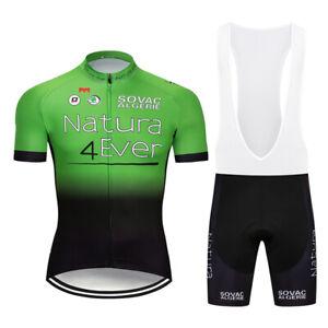 Men's Team Cycling Short Sleeve Jersey Shorts Kits Bike Riding Garments Clothing