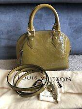 LOUIS VUITTON Vernis Monogram Leather Alma BB Handbag Shoulder Crossbody Bag