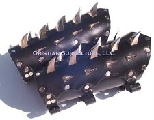 Leather Dragon Claw Spiked Bracers Arm Armor SCA LARP fantasy armour death rock