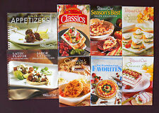 THE PAMPERED CHEF Season's Best Recipe Collection Cookbooks 2001-2005 Lot of 8