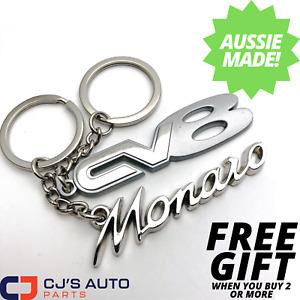 Holden CV8 Monaro Chrome Keyring Combo Set FREE GIFT