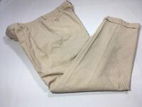 Polo Ralph Lauren x Corneliani Seersucker Tan Stripe 100% Cotton Sz 36-31 Pants