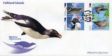 Falkland Islands 2018 FDC Migratory Species Penguins 4v Set Cover Birds Stamps