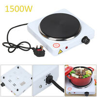 1500W Electric Hot Plate Hob Single Hot Plate Portable Heater Temp Control UK