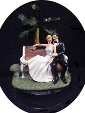 Park Palm tree Wedding Cake topper Groom top Informal Outside nature Centerpiece
