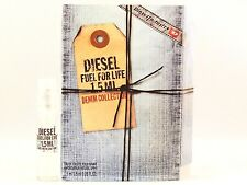 DIESEL FUEL FOR LIFE DENIM COLLECTION FOR MEN 1.5ml .05oz x 1 COLOGNE SAMPLE