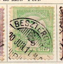 Hungría 1900 antiguo problema Fine Used 5f. 104363