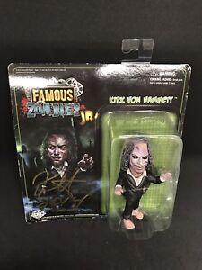 "SIGNED 2014 Zombie Kirk Von Hammett Famous Monsters Jr Green Metallica 4"""